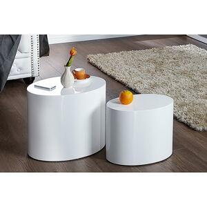 LuxD Sada stolků Class White