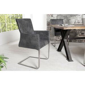 LuxD Židle Bull Vintage šedá