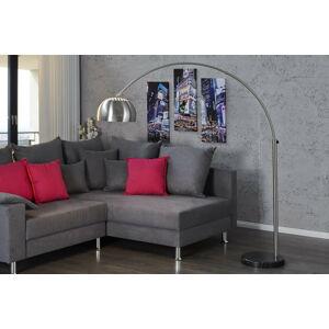 LuxD 16771 Designová stojanová lampa Arch II chrom