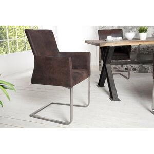 LuxD Židle Bull Vintage hnědá