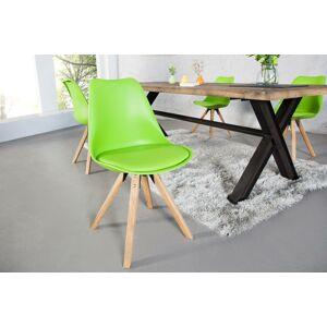 LuxD Židle Sweden NewLook limetková zelená