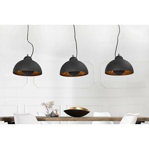 LuxD 17525 Designová závěsná lampa STAGE 3 černá závěsné svítidlo
