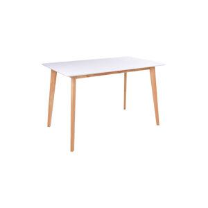 Norddan Designový jídelní stůl Carmen, přírodní / bílý