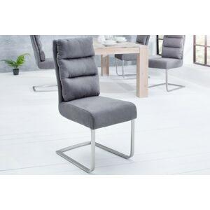 LuxD Jídelní židle Frank vintage šedá