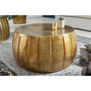 LuxD Designový konferenční stolek Maroko 65 cm zlatá barva - otevřené balení
