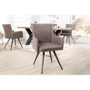 LuxD Dizajnová židle Adda šedá