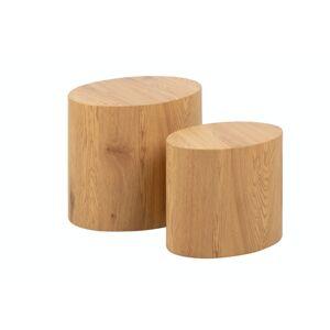 Dkton Sada odkládacích stolků Akiro imitace divoký dub