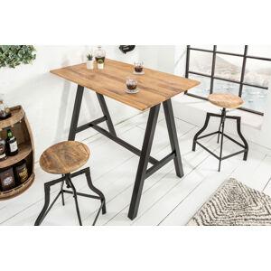 LuxD Barový stůl Queen 120 cm divý dub