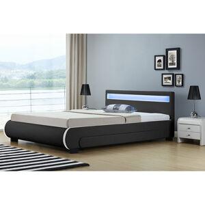"""Čalouněná postel,, Bilbao """"s úložným prostorem 180 x 200 cm - černá"""