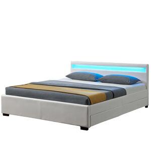 """Čalouněná postel,, Lyon """"s úložným prostorem - bílá"""