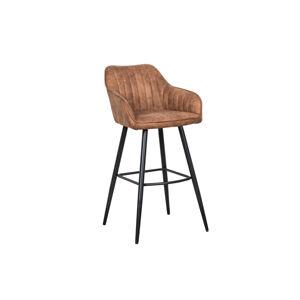 LuxD Designová barová židle Esmeralda vintage hnědá