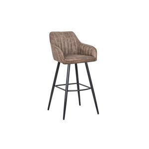 LuxD Designová barová židle Esmeralda vintage taupe
