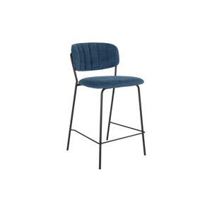 Norddan Designová barová židle Rosalie modrá