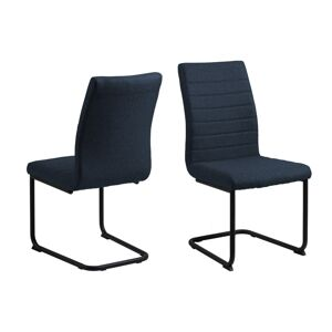 Dkton Designová jídelní židle Daitaro tmavomodrá / černá