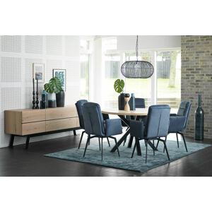 Catalent Designová jídelní židle Roll modrá s opěrkami