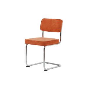 Furniria Designová konzolová židle Denise oranžová