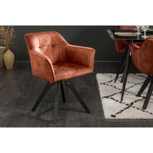 LuxD Designová otočná židle Giuliana měděný samet