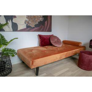 Norddan Designová pohovka Paola, oranžový samet