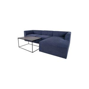 Norddan Designová rohová sedačka Anahi modrá pravá