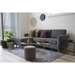 Norddan Designová rohová sedačka Knedrick tmavě šedý manšestr
