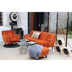 Norddan Designová sedačka Aaliyah, oranžový samet