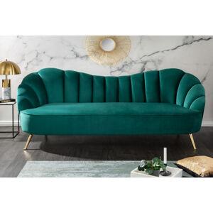 LuxD Designová sedačka Adalia 220 cm tyrkysová