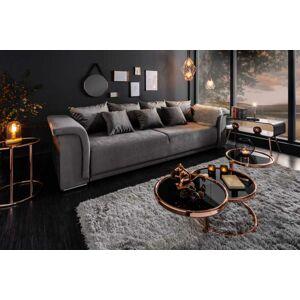LuxD Designová sedačka Korbin 270 cm světle šedý samet