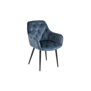 LuxD Designová stolička Garold petrolejový samet