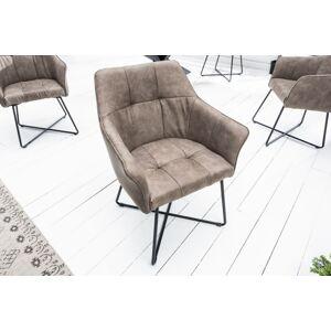 LuxD Designová židle Giuliana taupe