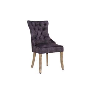 LuxD Designová stolička Queen samet královská šedá