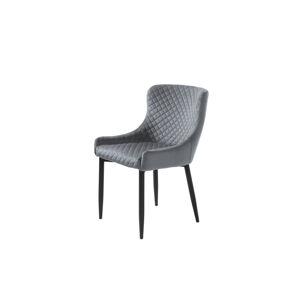 Furniria Designová židle Hallie šedý samet