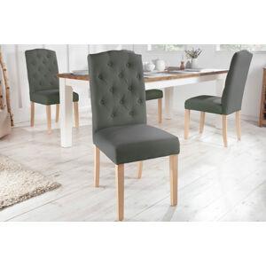 LuxD Designová židle Queen světlešedá