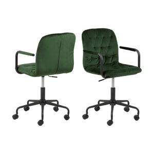 Dkton Designová kancelářská židle Zara zelená