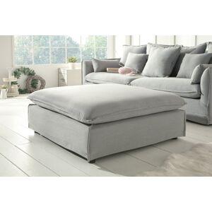 LuxD Designová taburetka Eden 100 cm šedá