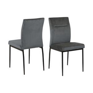 Dkton Designová židle Kassandra tmavě šedá