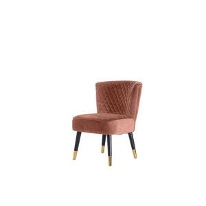 Furniria Designové křeslo Anabella růžový samet
