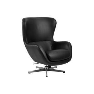 Dkton Designové křeslo Alessandro černá koženka