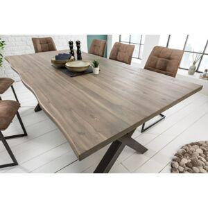 LuxD Designový jídelní stůl Evolution Grey 200 cm akácie