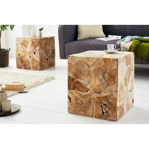 LuxD Designový odkládací stolek Junk 40 cm teak -  (RP)