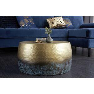 LuxD Designový konferenční stolek Malia III 60 cm zlatý žíhaný - otevřené balení