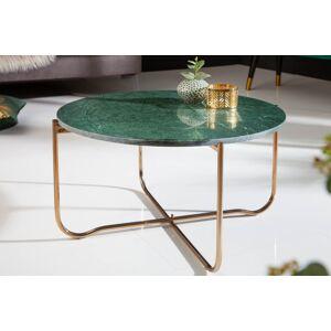 LuxD Designový konferenční stolek Tristen 62 cm mramor zelený - II. třída