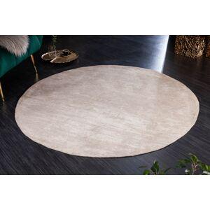 LuxD Designový kulatý koberec Rowan 150 cm béžový