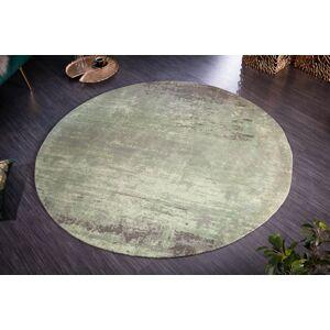 LuxD Designový kulatý koberec Rowan 150 cm zeleno-béžový