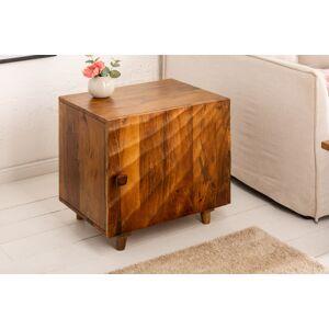 LuxD Designový noční stolek Shayla 50 cm hnědé mango