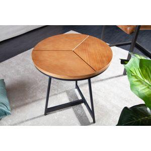 LuxD Designový odkládací stolek Faxon 45 cm imitace dub - otevřené balení
