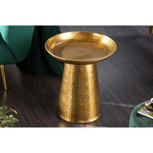 LuxD Designový odkládací stolek Malia 46 cm zlatý