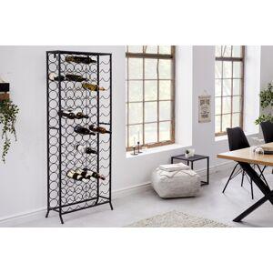 LuxD Designový regál na víno Dalya 182 cm černý