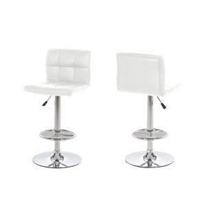 Dkton Designová barová židle Alban bílá