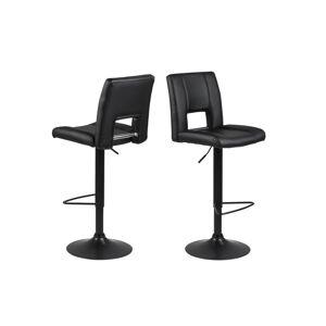 Dkton Designová barová židle Almonzo černá