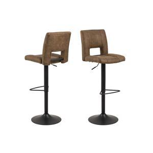 Dkton Designová barová židle Almonzo světlehnědá / černá